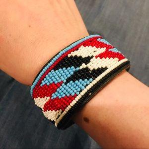 Jewelry - Beaded/Leather Bracelet